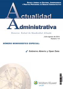 Monográfico Revista Actualidad Administrativa